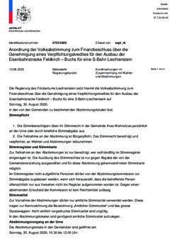 Kundmachung - Anordnung der Volksabstimmung