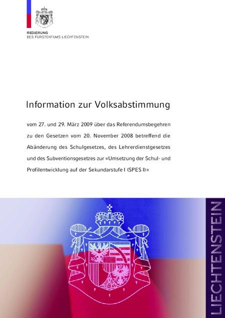 Information zur Volksabstimmung SPES I
